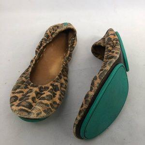 Tieks leopard print flats size 6